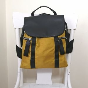 Black and Yellow Nylon utility back-pack